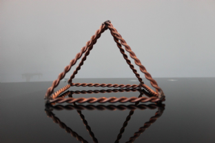 Tensor Sacred Cubit Giza Pyramid Auric Orgone 14 x 22cm Practitioner Tool EMF